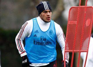 Gustavo Gomez during training at Milanello. (@acmilan.com)