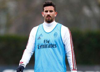 Mateo Musacchio during training at Milanello. (@acmilan.com)