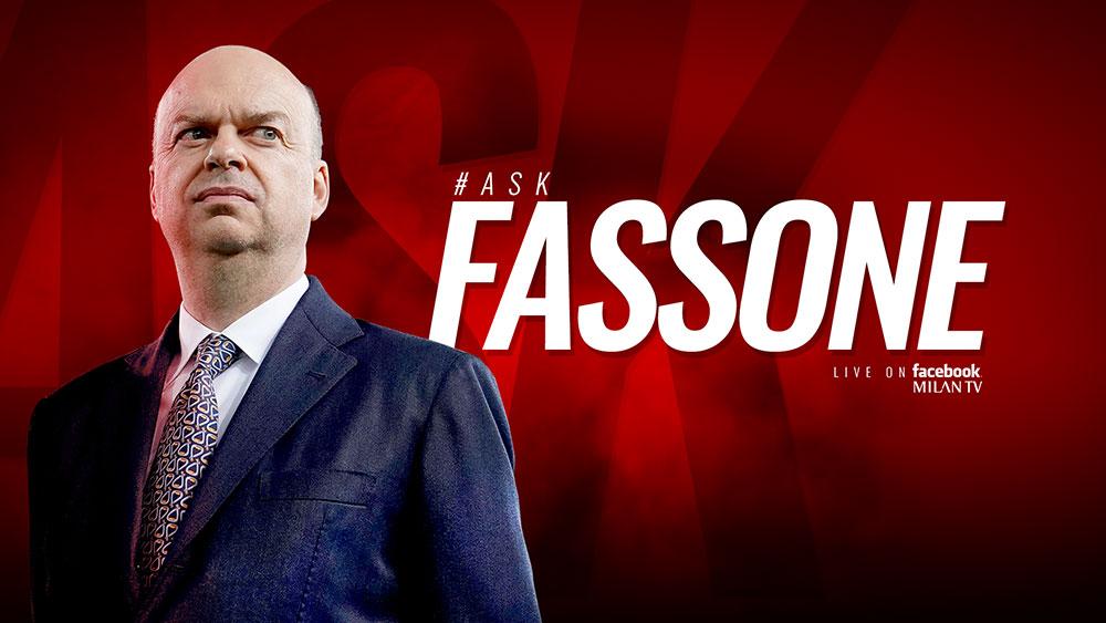 Marco Fassone's #askFassone banner. (@acmilan.com)