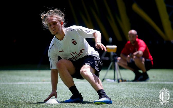 Alen Halilovi� at training center Milanello on July 7, 2018. (@acmilan.com)