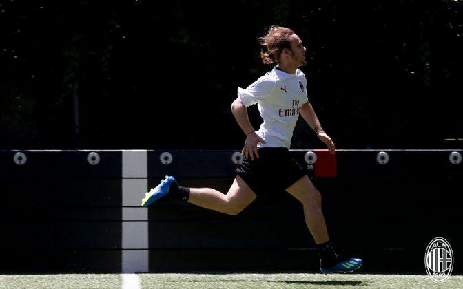 Alen Halilović at training center Milanello on July 7, 2018. (@acmilan.com)