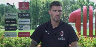 Alessio Romagnoli talking to MilanTV on August 16, 2018. (@acmilan.com)