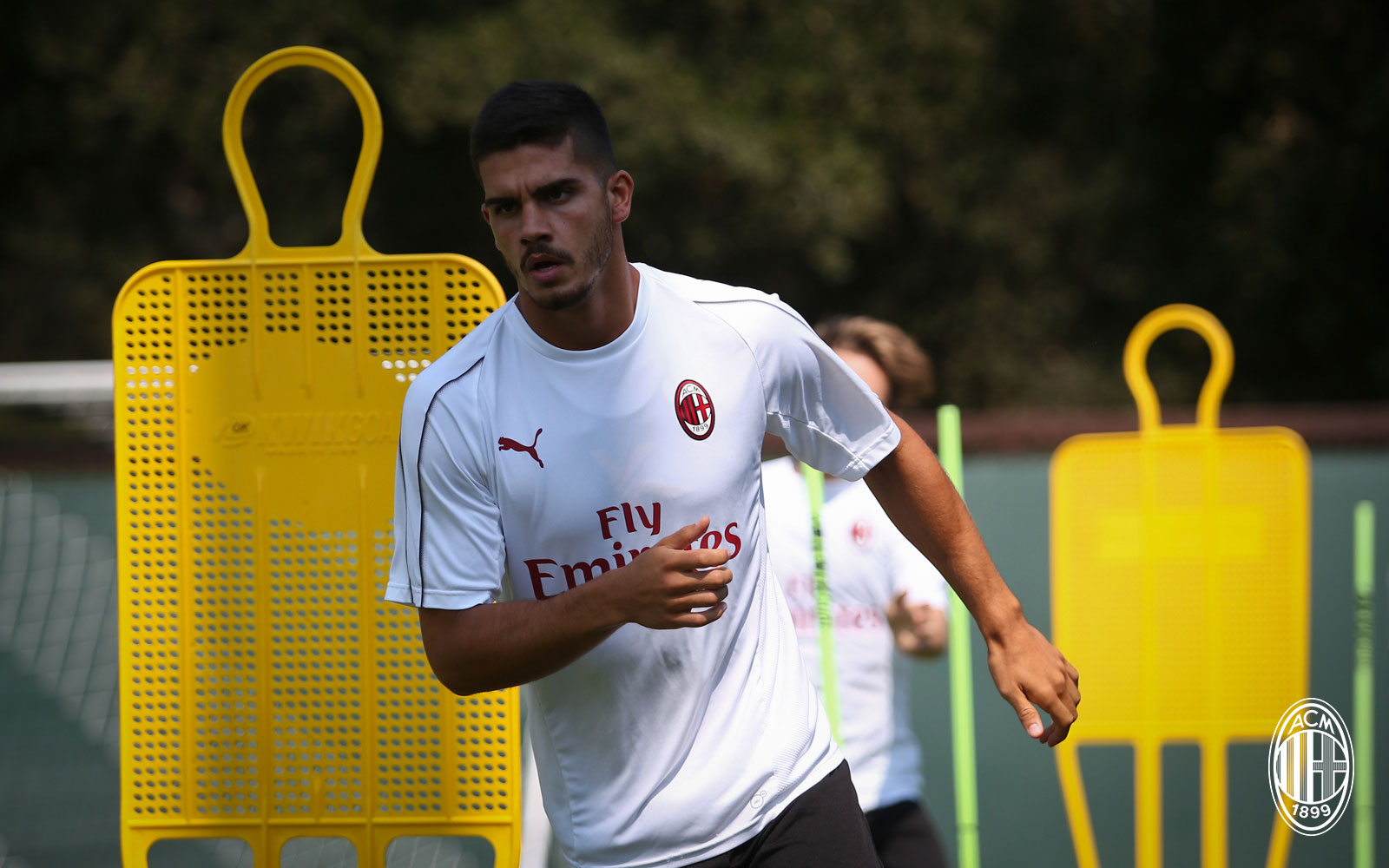 André Silva during training in the USA. (@acmilan.com)