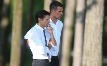 Leonardo and Paolo Maldini at Milanello on August 8, 2018. (@acmilan.com)