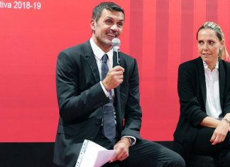 Paolo Maldini during a Milan Academy event on August 30, 2018. (@acmilan.com)