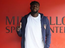 Tiémoué Bakayoko at training center Milanello on August 14, 2018. (@acmilan.com)