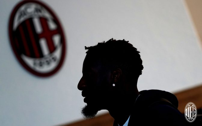 Tiémoué Bakayoko at training center Milanello on August 14, 2018. (@acmilan.com)