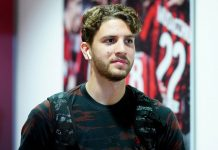 Manuel Locatelli at Stadio San Siro. (@acmilan.com)