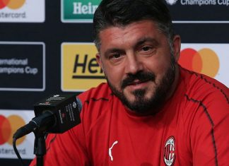 Gennaro Gattuso during a press conference in the United States. (@acmilan.com)