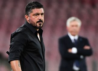Gennaro Gattuso during Napoli-Milan at Stadio San Paolo on August 25, 2018. (ALBERTO PIZZOLI/AFP/Getty Images)