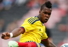 Jherson Vergara Amu during Colombia U21-Brazil U21 at Stade du Ray on June 8, 2013. (VALERY HACHE/AFP/Getty Images)