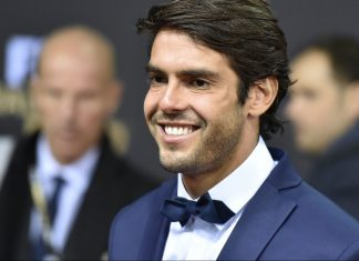 Kaka on the red carpet at the 2015 FIFA Ballon d'Or award ceremony at the Kongresshaus in Zurich on January 11, 2016. (MICHAEL BUHOLZER/AFP/Getty Images)