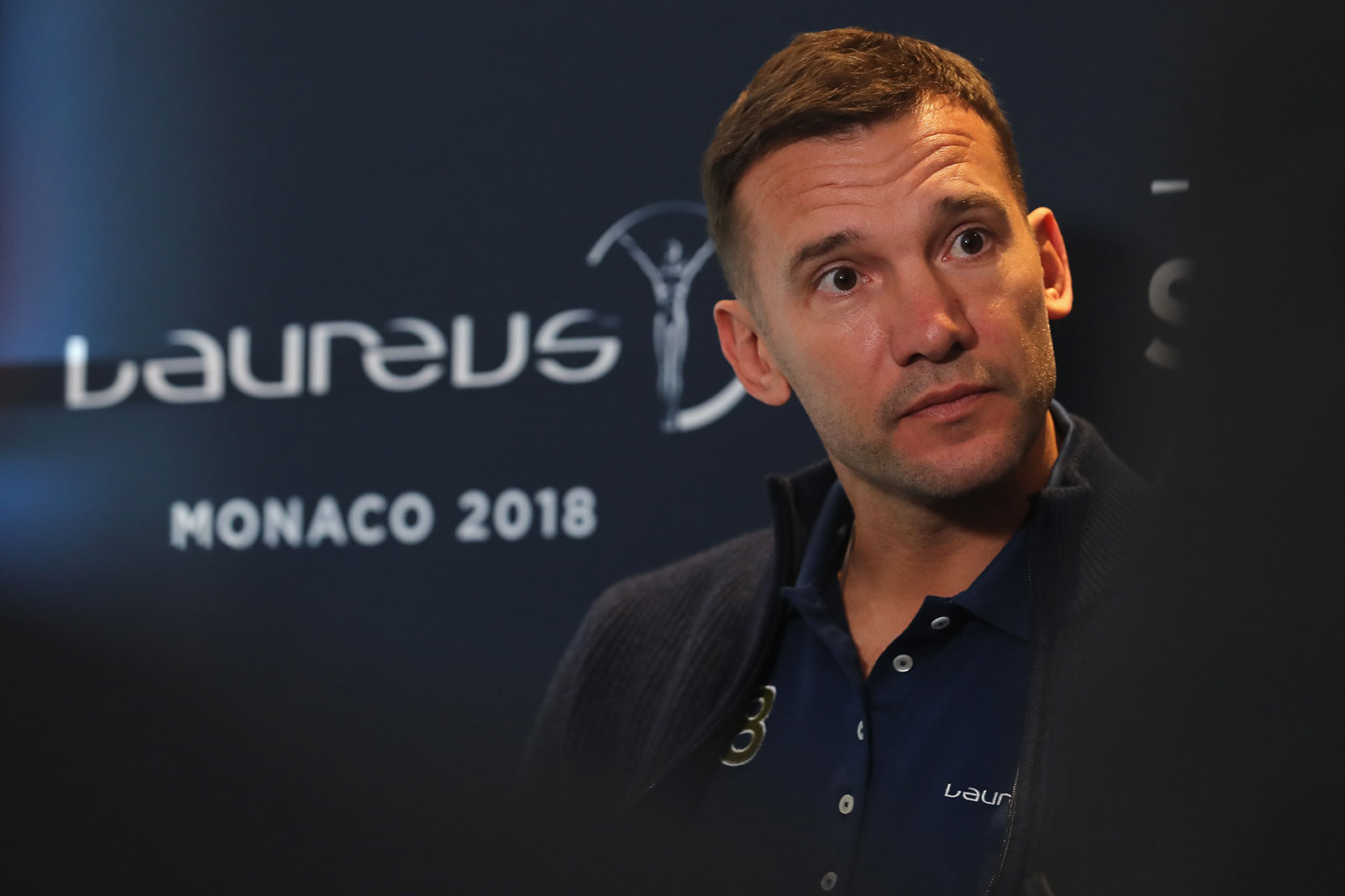 Andriy Shevchenko is interviewed prior to the Laureus World Sports Awards at the Meridien Beach Plaza on February 27, 2018 in Monaco, Monaco. (Photo by Boris Streubel/Getty Images for Laureus)