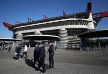 Stadio San Siro before Milan-Arsenal on March 8, 2018. (Photo by Catherine Ivill/Getty Images)