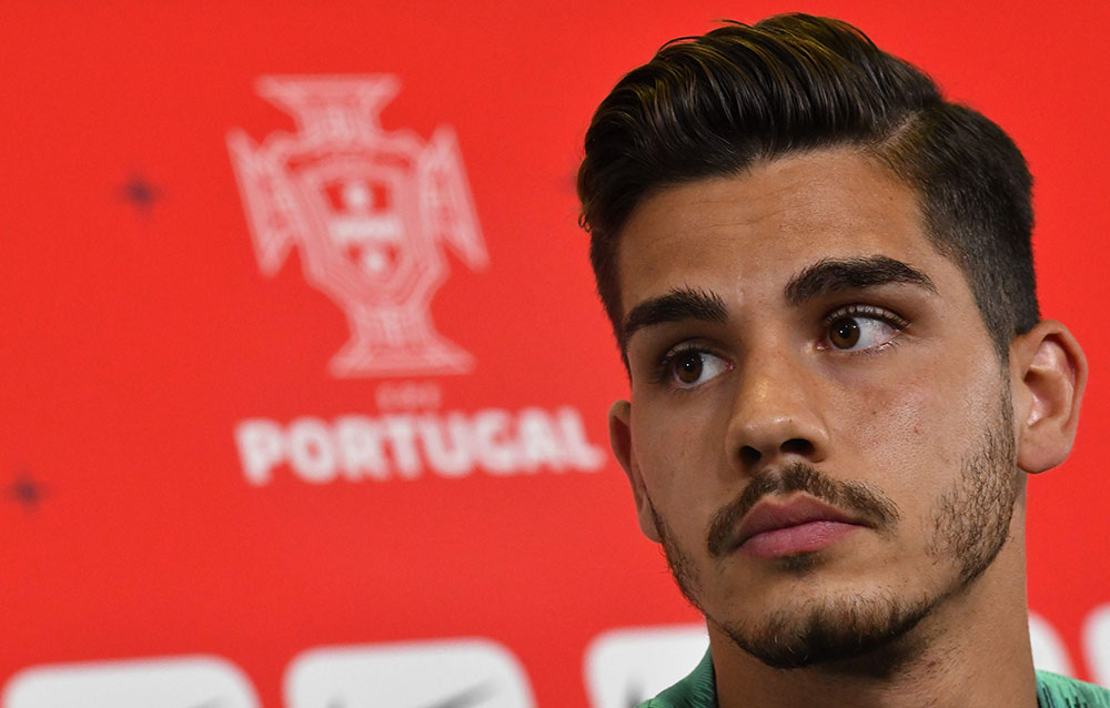 André Silva during a Portugal press conference at on June 18, 2018. (FRANCISCO LEONG/AFP/Getty Images)
