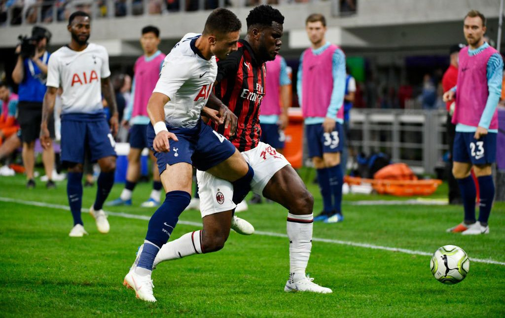 Franck Kessié during Tottenham-Milan at U.S. Bank Stadium on August 1, 2018. (Photo by Jules Ameel/Getty Images)