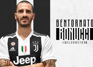 Leonardo Bonucci's return announcement poster. (@juventus.com)