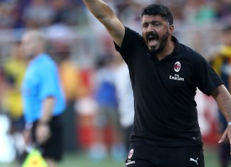 Gennaro Gattuso during Barcelona-Milan at Levi's Stadium on August 5, 2018. (@acmilan.com)