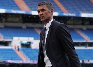 Paolo Maldini before Real Madrid-Milan at Estadio Santiago Bernabéu on August 11, 2018. (@acmilan.com)