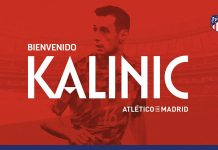 Nikola Kalinic at Atletico Madrid. (@atleticodemadrid.com)