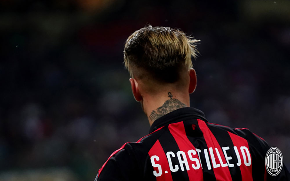 Samu Castillejo during Milan-Roma at Stadio San Siro on August 31, 2018. (@acmilan.com)