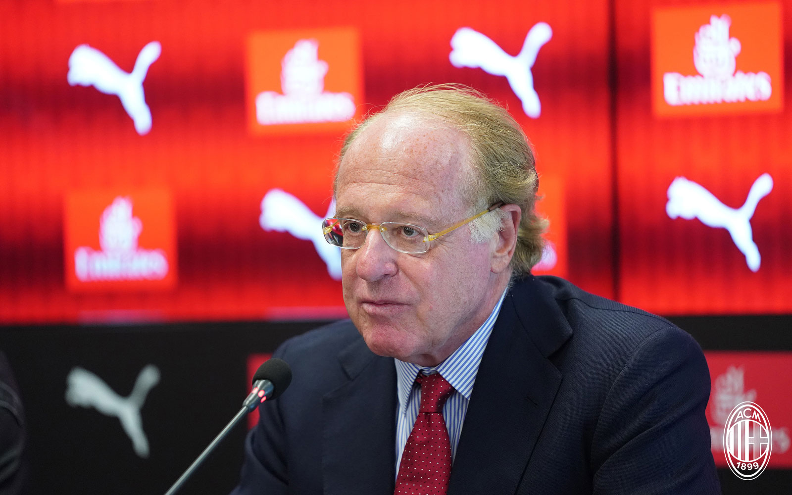 Paolo Scaroni during a press conference on August 17, 2018. (@acmilan.com)