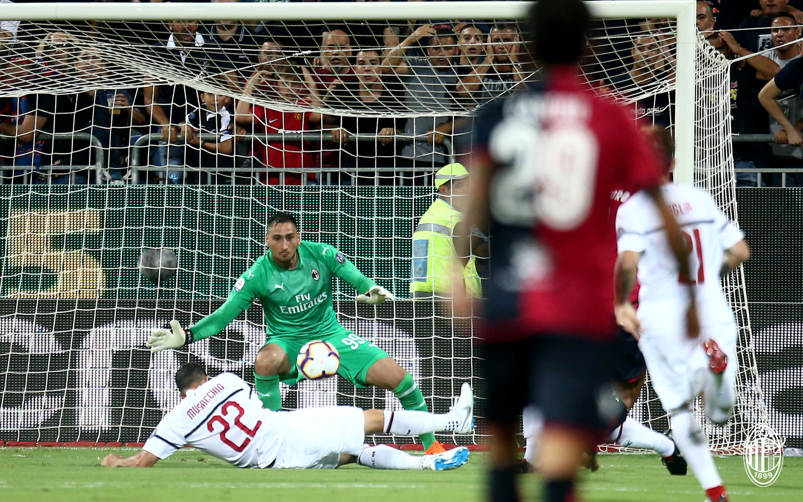 Gianluigi Donnarumma during Cagliari-Milan at Sardegna Arena on September 16, 2018. (@acmilan.com)
