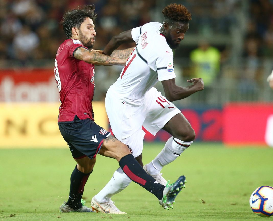 Tiémoué Bakayoko during Cagliari-Milan at Sardegna Arena on September 16, 2018. (@acmilan.com)