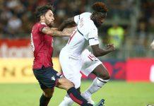 Tiémoué Bakayoko during Cagliari-Milan at Sardegna Arena on September 16, 2018. (@acmilan.com)