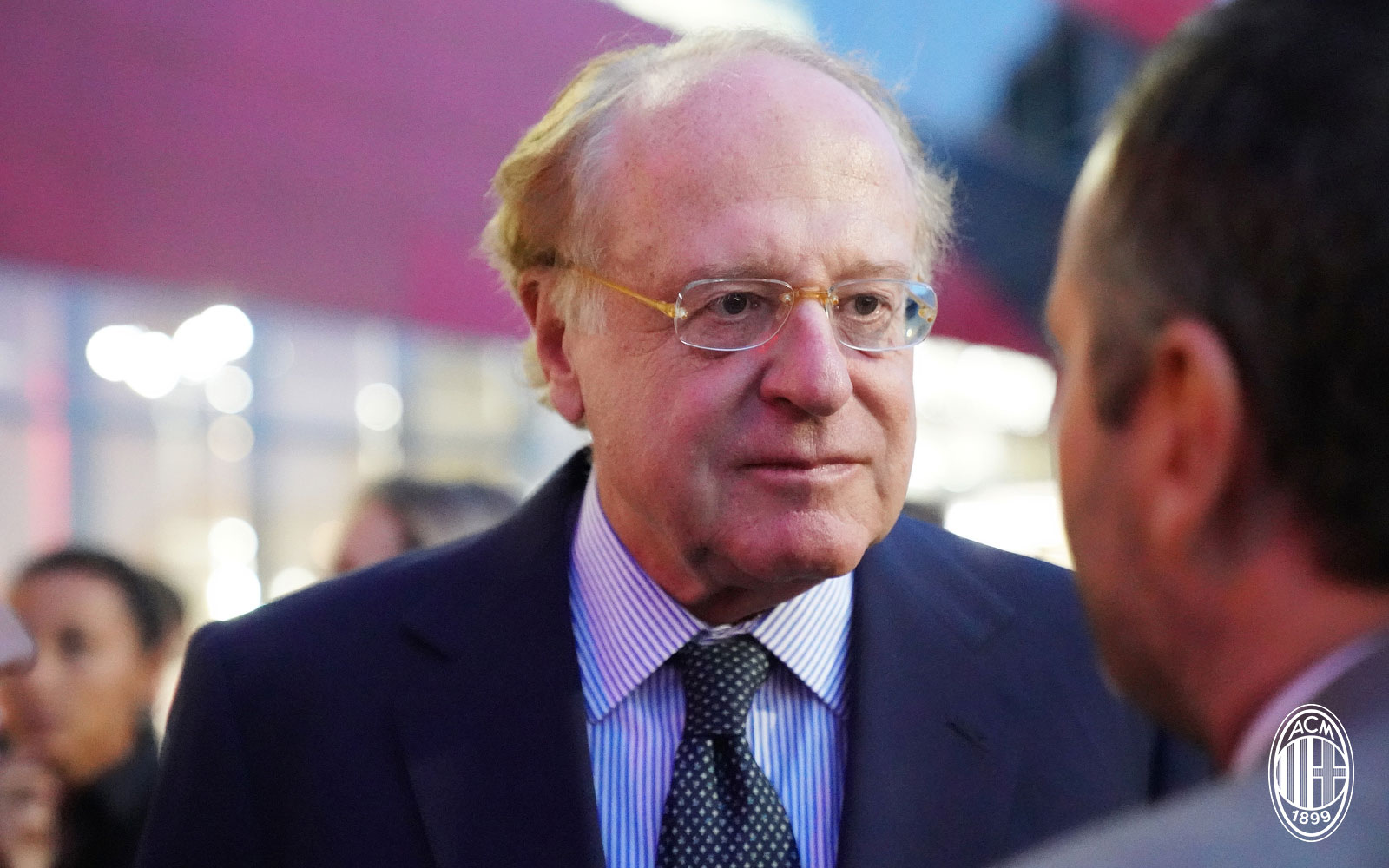 Paolo Scaroni on the night of the grand opening of the restaurant of Casa Milan Bistrot/Fourghetti on September 12, 2018. (@acmilan.com)