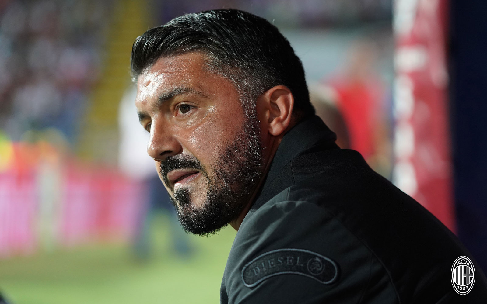 Gennaro Gattuso during Cagliari-Milan at Sardegna Arena on September 16, 2018. (@acmilan.com)