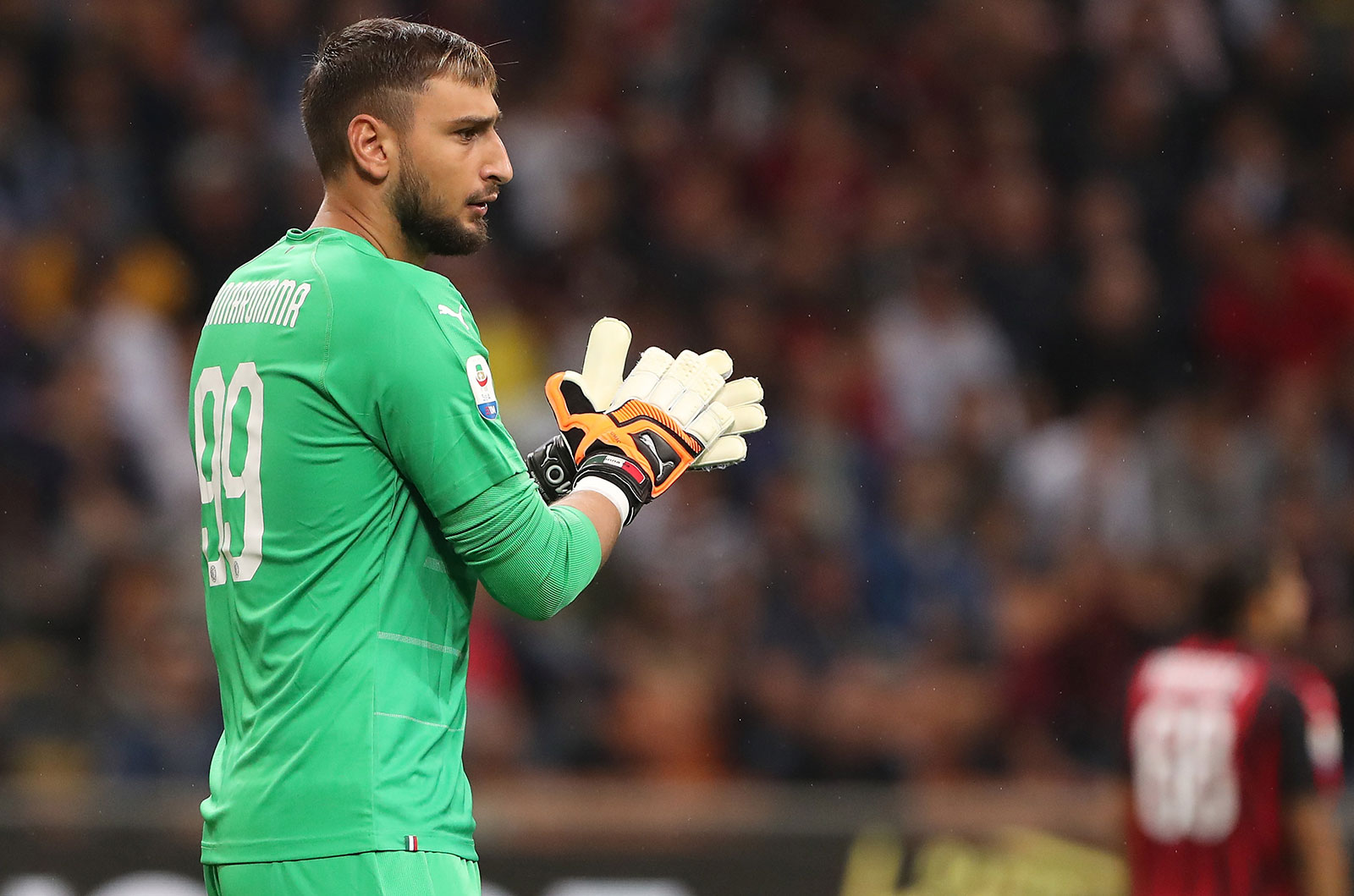 Gianluigi Donnarumma at the end of Milan-Roma at Stadio San Siro on August 31, 2018. (Photo by Marco Luzzani/Getty Images)
