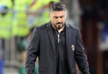 Gennaro Gattuso during Cagliari-Milan at Sardegna Arena on September 16, 2018. (Photo by Enrico Locci/Getty Images)