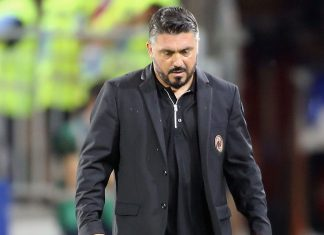 Gennaro Gattuso during Cagliari-Milan at Sardegna Arena on September 16, 2018. (Photo by Enrico Locci/Getty Images)