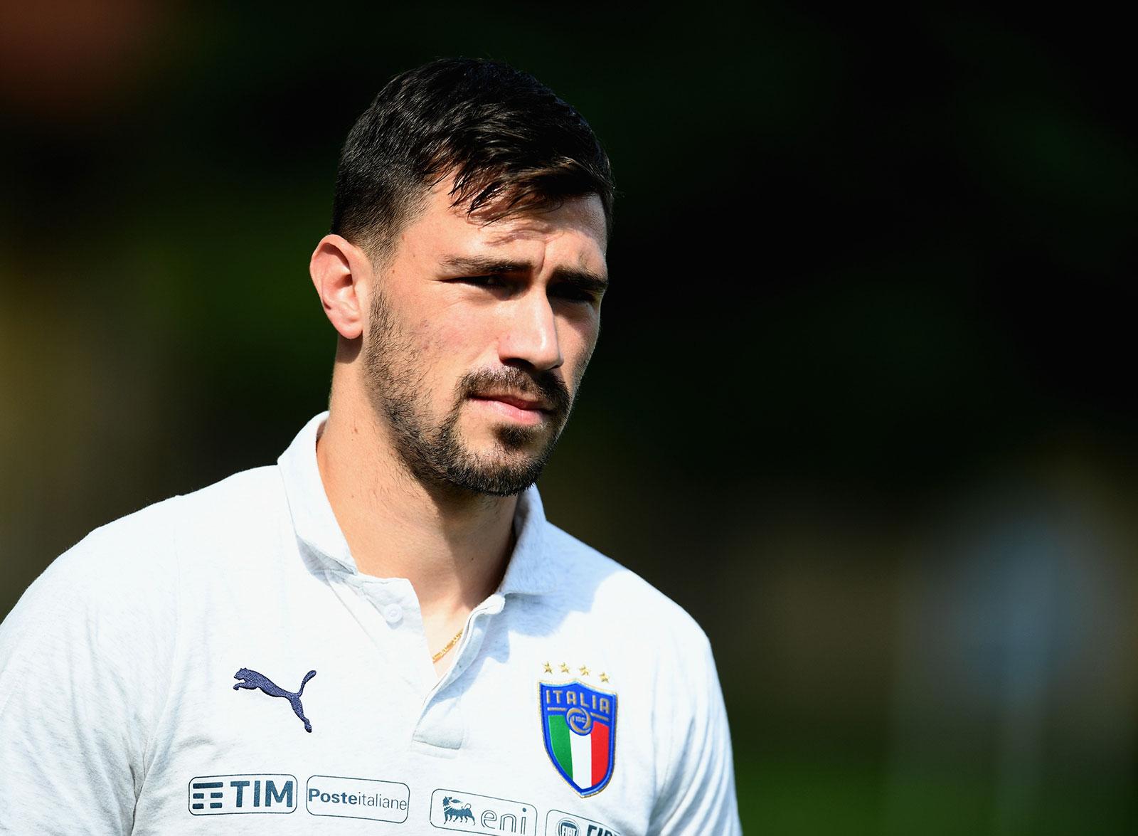 Alessio Romagnoli before Italy training session at Centro Tecnico Federale di Coverciano on May 26, 2018. (Photo by Claudio Villa/Getty Images)