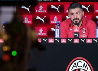 Gennaro Gattuso during a press conference at Milanello. (@acmilan.com)