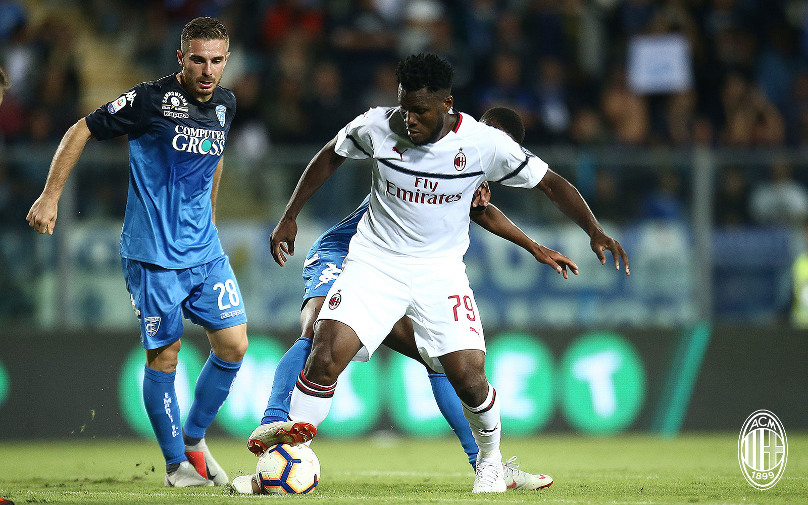 Franck Kessié during Empoli-Milan at Stadio Carlo Castellani on September 27, 2018. (@acmilan.com)