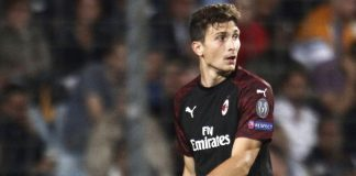 Mattia Caldara during Dudelange-Milan at Stade Josy Barthel on September 20, 2018. (@acmilan.com)