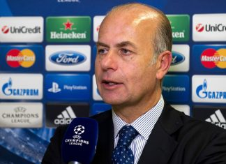 Umberto Gandini after the UEFA Champions League 2013/14 play-off draw at the UEFA headquarters on August 9, 2013 in Nyon, Switzerland. (Photo by Harold Cunningham/Getty Images)