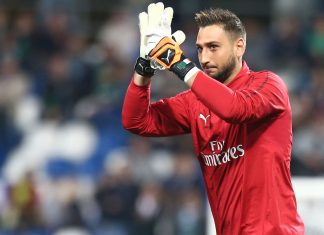 Gianluigi Donnarumma before Sassuolo-Milan at Mapei Stadium – Città del Tricolore on September 30, 2018. (@acmilan.com)