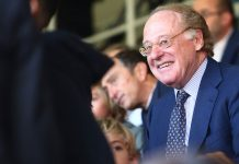 Paolo Scaroni before Milan-Chievo at Stadio San Siro on October 7, 2018. (@acmilan.com)