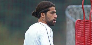 Ricardo Rodríguez during training at Milanello. (@acmilan.com)