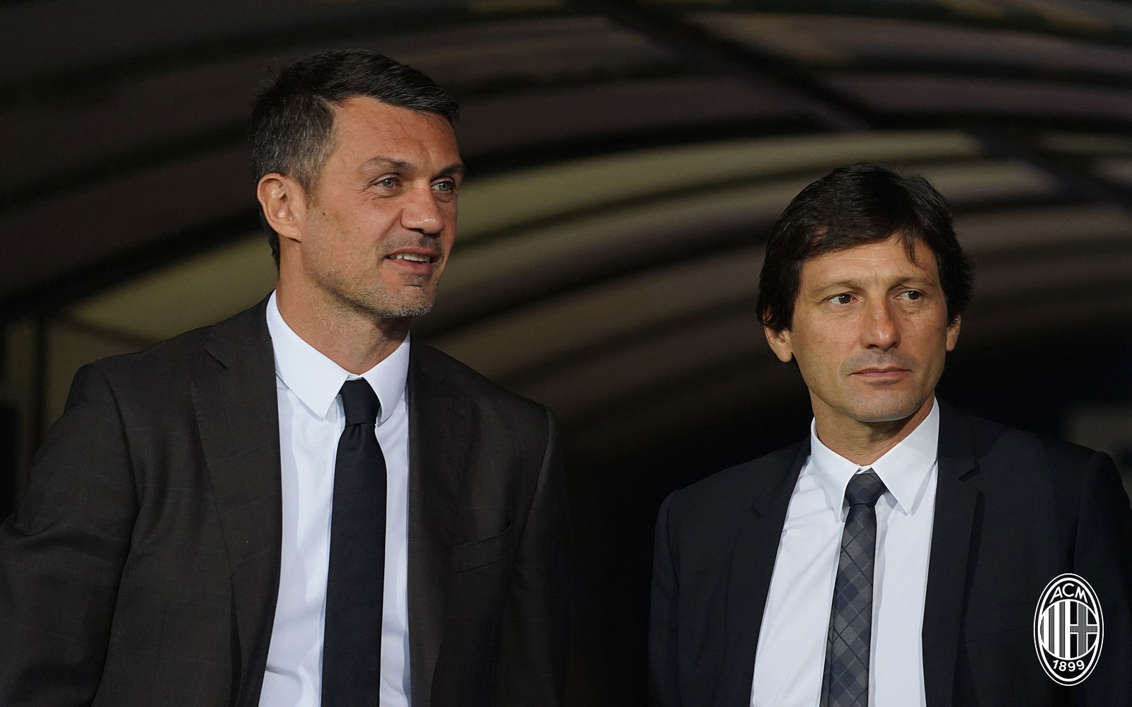 Paolo Maldini and Leonardo before Empoli-Milan at Stadio Carlo Castellani on September 27, 2018. (@acmilan.com)