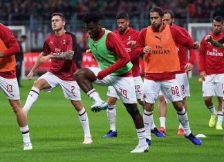 The squad before Milan-Sampdoria at Stadio San Siro on October 28, 2018. (@acmilan.com)