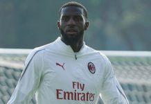 Tiémoué Bakayoko during training at Milanello. (@acmilan.com)