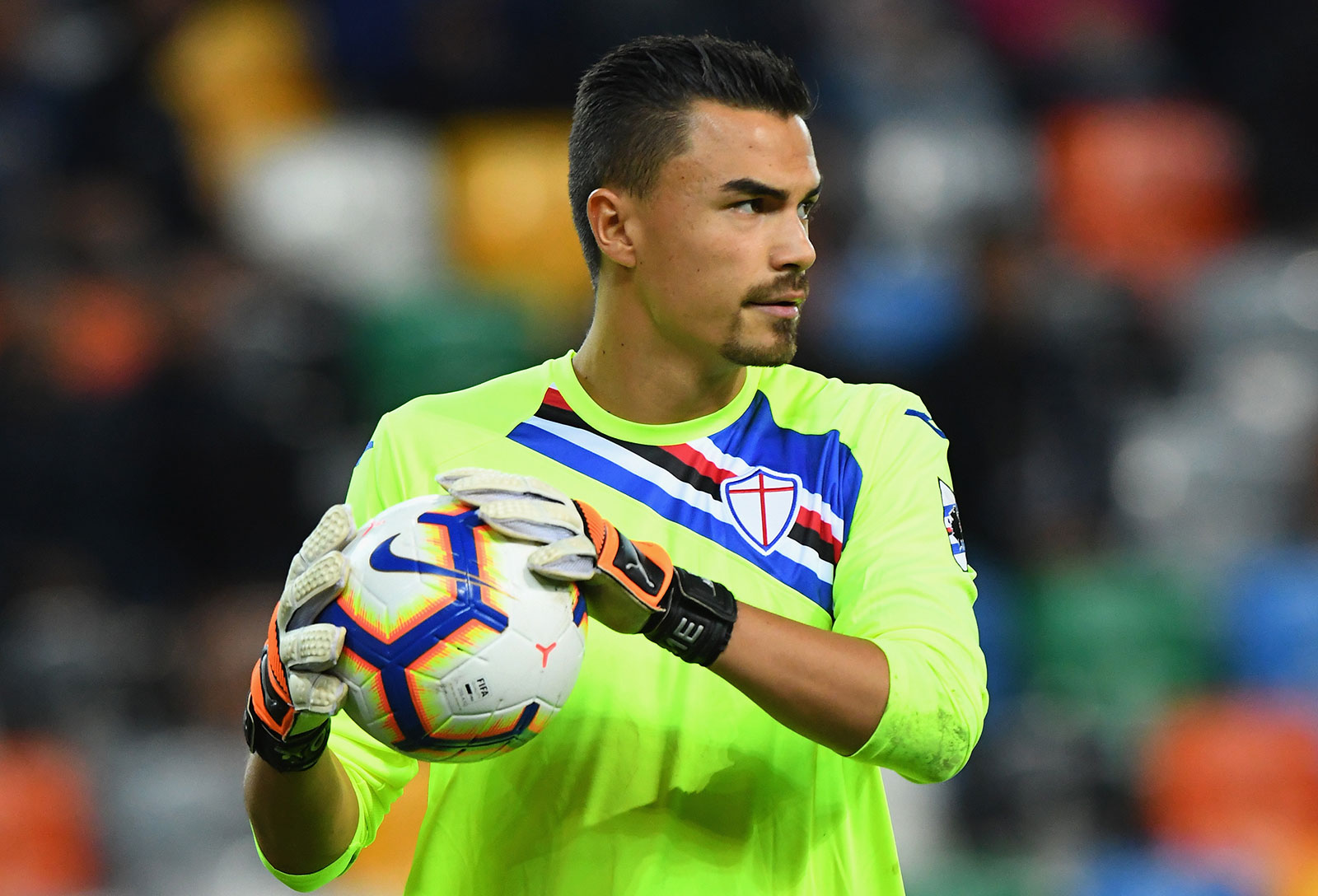 Emil Audero during Udinese-Sampdoria at Stadio Friuli on August 26, 2018. (Photo by Alessandro Sabattini/Getty Images)