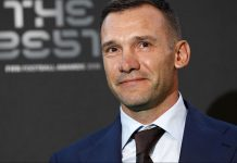 Andriy Shevchenko during The Best FIFA Football Awards ceremony, on September 24, 2018. (ADRIAN DENNIS/AFP/Getty Images)