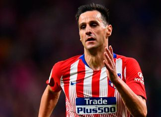 Nikola Kalinić during Atlético Madrid-SD Huesca at Wanda Metropolitano on September 25, 2018. (GABRIEL BOUYS/AFP/Getty Images)