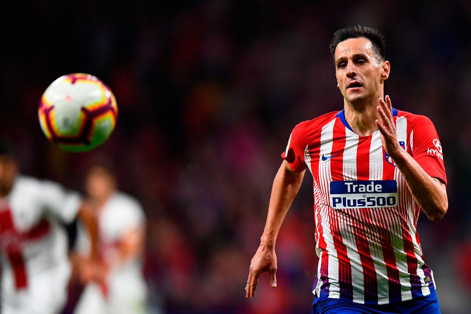 Nikola Kalinić during Atlético Madrid-SD Huesca at Wanda Metropolitano on September 25, 2018. (GABRIEL BOUYS/AFP/Getty Images)