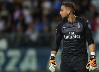 Gianluigi Donnarumma during Empoli-Milan at Stadio Carlo Castellani on September 27, 2018. (Photo by Gabriele Maltinti/Getty Images)